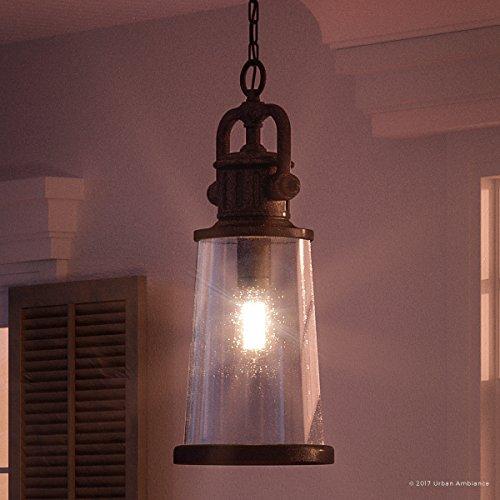 Dark Bronze Outdoor Hanging (Luxury Vintage Outdoor Pendant Light, Large Size: 21