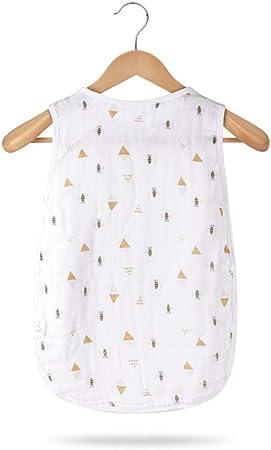HELIn Saco de Dormir para bebés: algodón Puro 95% y Superior en Verano Vestidos de algodón para bebés Unisex Vestidos de algodón para bebés Unisex Manta ponible Saco de Dormir para bebés: