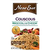 Near East Broccoli & Cheese Couscous Mix, 5.4-Ounce Boxes (Pack of 12)