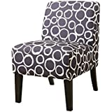 ACME Ollano Pattern Fabric Accent Chair