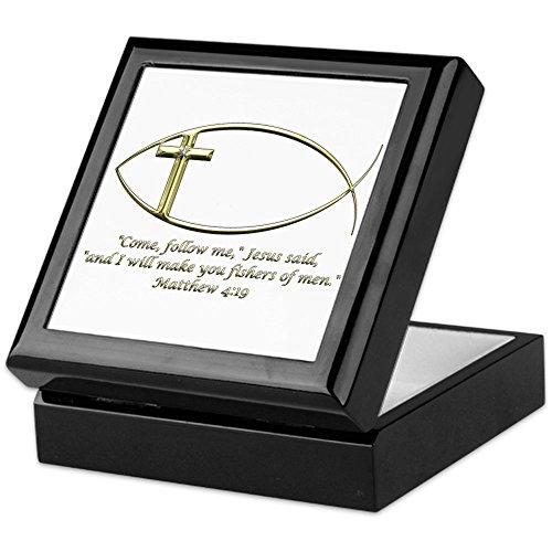 (CafePress - Matthew 4:19 - Keepsake Box, Finished Hardwood Jewelry Box, Velvet Lined Memento Box)