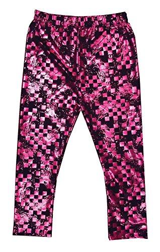 Monster High Creeperific Leggings Pink & Black Size 8-10 Metallic Hot Pink