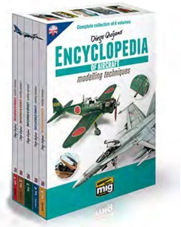 Complete Encyclopedia Set of Aircraft Modeling Techniques AMMO of Mig Jimenez