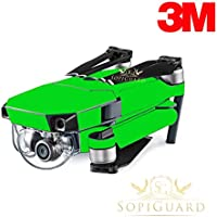 SopiGuard 3M Neon Green Precision Edge-to-Edge Coverage Vinyl Skin Controller Battery Wrap for DJI Mavic Pro