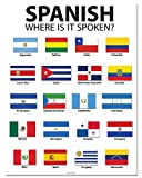 Spanish Speaking Countries - 20'' x 26'' - Classroom Poster
