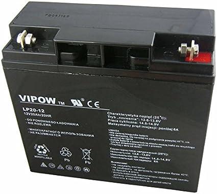 systemes dalarme jouets bateaux caisse UPS, quad Vipow 12V 17Ah Gel de batterie v/éhicules motos caravanes