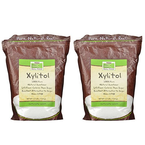 Now Foods Xylitol 2.5 pound bag x 2