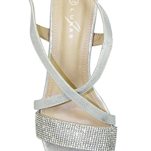 Lunar Women's Monterey Strap Sandal in Rose Gold Or Silver Sizes 3,4,5,6,7,8,36,37,38,39,40,41 Silver