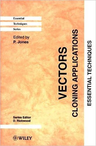 vectors cloning applications essential techniques 1 p jones