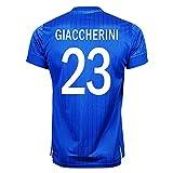 Puma Giaccherini #23 Italy Home Soccer Jersey S/S UEFA Euro 2016 (L)