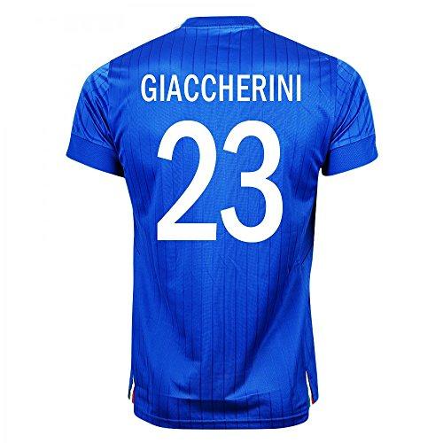 Puma Giaccherini #23 Italy Home Soccer Jersey S/S UEFA Euro 2016 (L) by PUMA