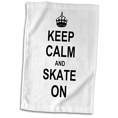 3D Rose Keep Calm Carry Funny Skateboarding Ice Skater Or Ro