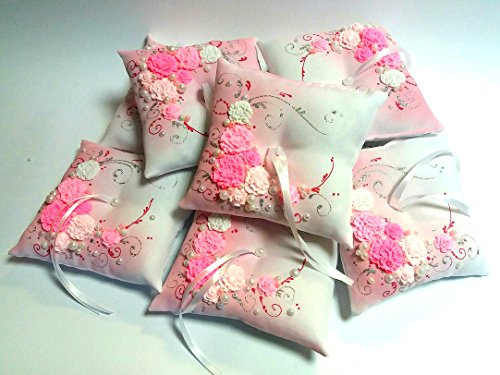 Magik Life Wedding Pillow Decorative Rings (Pink)
