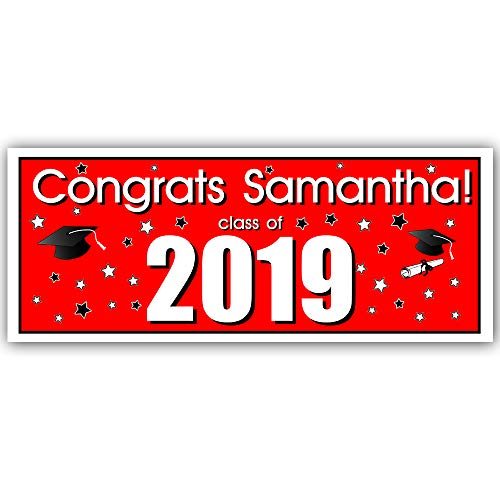 Class of 2019 Custom Graduation Party Banner Decoration Red Backdrop]()