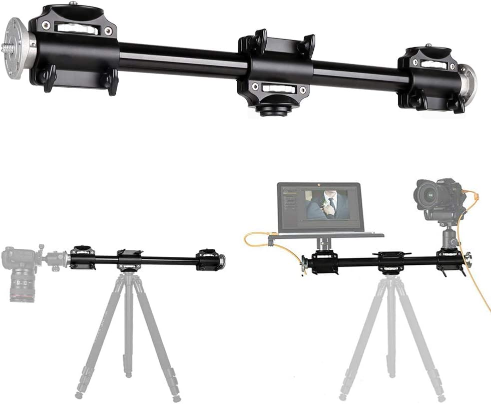 Fotoconic Horizontal Tripod Arm, 3/8 Screw Support Tripod Extension Bar Stand for Camera, Professional Photography Studio
