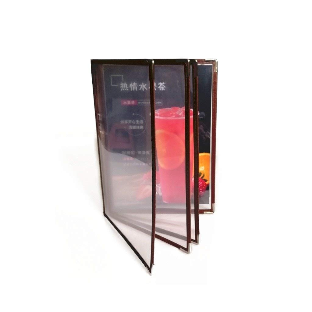 Document Display Book File Storage Organizer 4 Pages 8 Sides Protect Important Documents from Damage(Imitation Leather + PVC) 2531.5CM