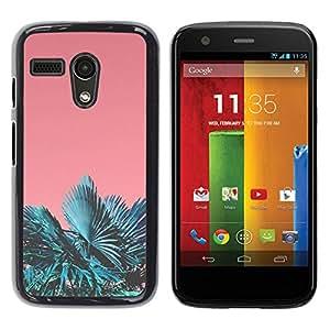 PC/Aluminum Funda Carcasa protectora para Motorola Moto G 1 1ST Gen I X1032 Miami Tropics Teal Peach Summer Sun / JUSTGO PHONE PROTECTOR