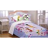 Disney Fairies Flower Magic Art 4pc Full Bed Sheet Set