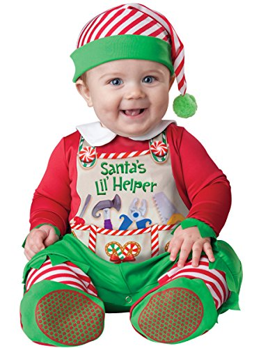 [InCharacter Costumes Baby's Santa's Lil' Helper Costume, Red, Medium] (Childrens Santas Helper Costume)