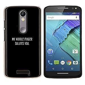 Stuss Case / Funda Carcasa protectora - SALUDO DEDO MEDIO - Motorola Moto X3 3rd Generation