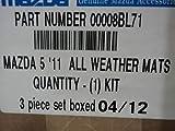MAZDA 5 NEW OEM ALL WEATHER FLOOR MAT SET 2012-2013