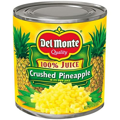 Del Monte Crushed Pineapple in 100% Juice, 15.25 oz