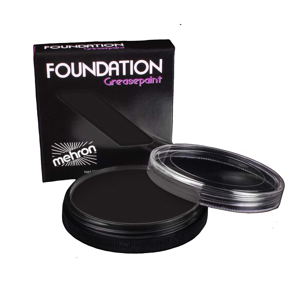 Mehron Makeup Foundation Greasepaint (1.25 ounce) (Black)