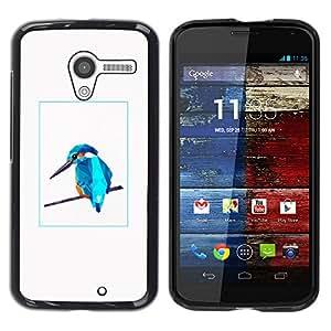 YOYOYO Smartphone Protección Defender Duro Negro Funda Imagen Diseño Carcasa Tapa Case Skin Cover Para Motorola Moto X 1 1st GEN I XT1058 XT1053 XT1052 XT1056 XT1060 XT1055 - 3D, cristal azul carpintero