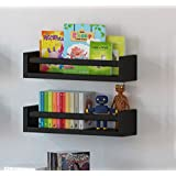 Amazon Price History for:Set of 2 Multi-use Wood Kitchen Wall Shelf Black Spice Rack Also Good For Nursery Wall Shelf