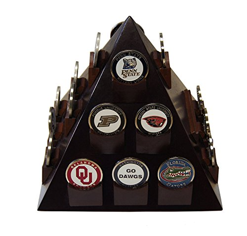 DECOMIL Pyramid Shaped Military Challenge Coin& Poker Chips Stand with Rotatable Base by DECOMIL