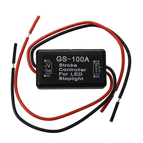 TOOGOO(R) Flash Strobe Controller Flasher Module for LED Brake Tail Stop Light (16v Brake)