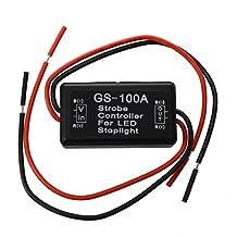 SODIAL(R) Flash Strobe Controller Flasher Module for LED Brake Tail Stop Light 12-16V