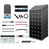 Renogy 600 Watt 12 Volt Premium Solar Complete Kit Monocrystalline with MPPT Charge Controller +Mounts+ 200AH Gel Battery+ 2000W Pure Sinve Inverter