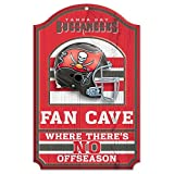 NFL Tampa Bay Buccaneers Wood Sign, Large/11 x 17-Inch, White