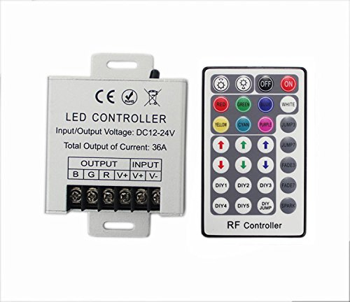 JOYLIT 28 Keys LED RF RGB Remote Controler For RGB SMD 3528 5050 LED Strip LED Lights Controller Input DC12V 30A by JOYLIT (Image #2)