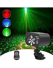Party Lights USB Oplaadbare DJ Disco Lights, RGB LED strobe Light geluid met afstandsbediening voor feestjes geactiveerd Dancing Bar Pub bruiloften Kerstpodiumverlichting