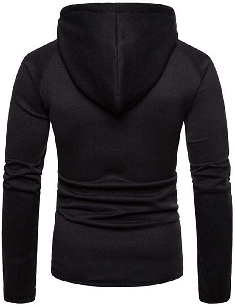 Heless Mens Loose Fit Long Sleeve Casual Zipper Athletic Hoodie Sweatshirt Jacket