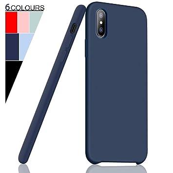 Fuleadture Funda iPhone XS MAX, [Compatible con Carga Inalámbrica] Original Slim Líquido de Silicona Gel Carcasa Totalmente Protectora Caso Cover Case ...