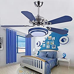 Andersonlight Fan LED Indoor Stainless Steel Ceiling Fan with Light and Remote Control 48-Inch