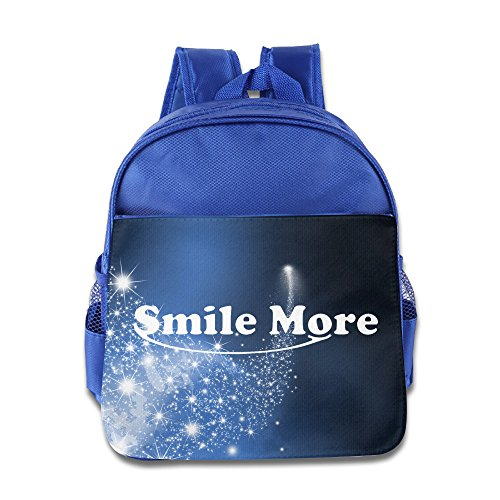 Price comparison product image OurLove Smile More Kid Bookbag Backpack Fashion Size Size Key RoyalBlue