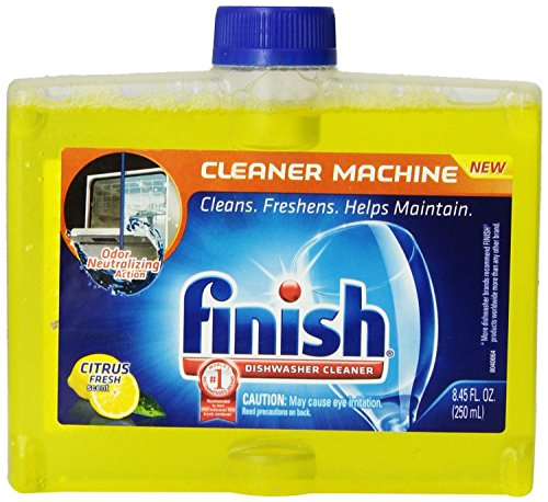 Finish Dishwasher Cleaner, Citrus Scent, 8.45 Ounce (Pack of 6)