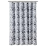 Room Essentials Elegant Fabric Cotton Polyester Blend Heavy Duty Shower Curtain - Triangle Gray Shades