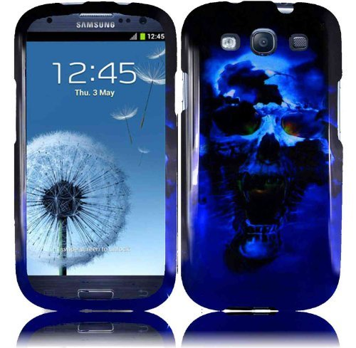 Skull Design Hard Case for Samsung Galaxy S III i747 AT&T/i535 Verizon/T999 T-mobile/L710 Sprint/ i9300 - Blue