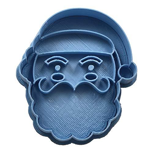 Cuticuter Crhsitmas Santa Claus Face Cookie Cutter, blue