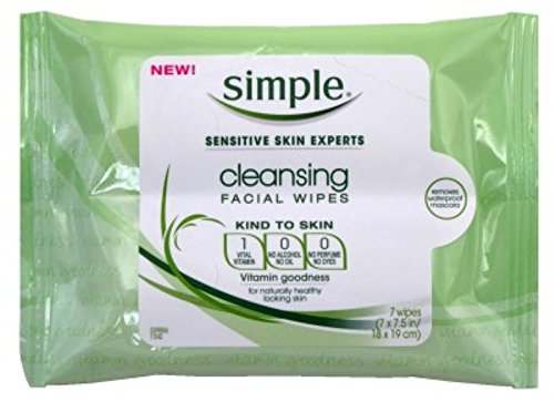 Simple Cleansing Facial Wipes 7'S