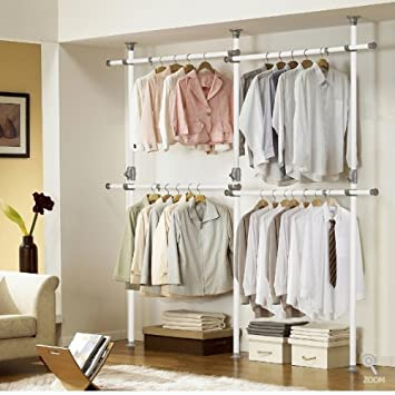 Amazing One Touch Double 2 Tier Adjustable Hanger | Clothing Rack | Closet Organizer