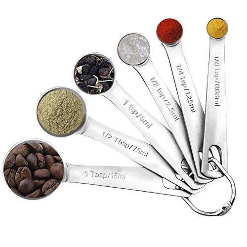 Accmor 11 Piece Stainless Steel Measuring Spoons Cups Set