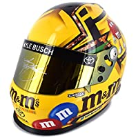 Autographed Kyle Busch Full Size M&M's Collectible NASCAR Replica Helmet