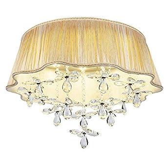 LED K9 Kristall Schlafzimmer Deckenleuchte Stoff Wohnzimmer ...