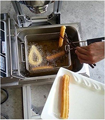 5L máquina de hacer Churro Español Comercial Profesional Churro Maker Herramienta Cocina Cocina Pastelería con Cortador con 12L freidora eléctrica 220V-240V ...